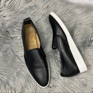 Everlane black leather street sneakers